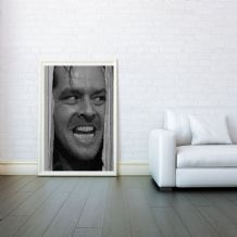 Jack Nicholson, The Shining, Prints & Posters, Wall Art Print, Poster Any Size - Black and White Poster